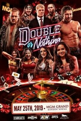 AEW Double or Nothing - 2 DVD Set inc Buy In Pre-Show - All Elite Wrestling PPV