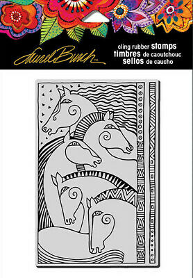 Horses Heart LBCQ003 Stampendous Laurel Burch Cling Stamp