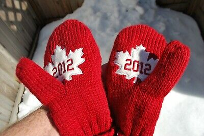 2012 Canadian Olympic Mittens Red Hudson's Bay Nwt Adult S/M