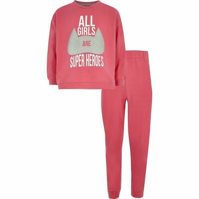 Girls River island  All Girls Are Superheros  Pyjama Set Ex Chainstore
