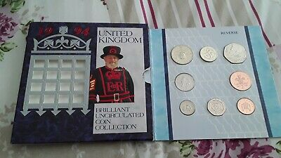 1994 Uk Uncirculated Coin Collection,  And Uncirculated  Irish Coins