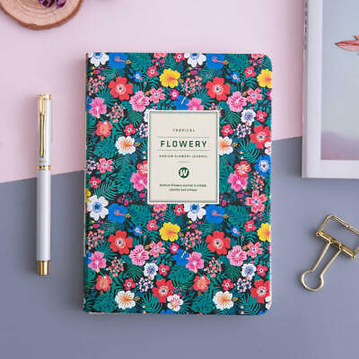 Floral Leather Soft Cover Monthly Weekly Planner for Women Personal Journal A5