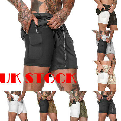 Mens fast-dry Sports Gym Summer Shorts Breathable Fitness Bottoms With Pockets