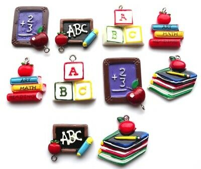 New!! 10 Education School Teacher Charms - Same Day Fast Free P&P