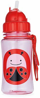 Skip Hop ZOO STRAW BOTTLE - LADYBUG Kids Straw Drinking Bottle BNIP