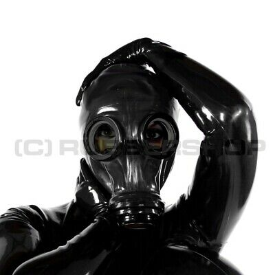 Gas Mask For Latex Rubber Fetish Hood Catsuit Gloves Skirt Cosplay Leather Body