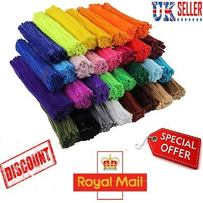 """Pipe Cleaners Craft Chenille Craft Stems 12"""" 30cm Long Bristle Bundle Assorted"""