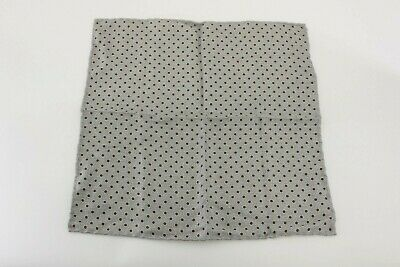 Brunello Cucinelli Mens Wool Brown Checkered Pocket Square One Size~Retail$225