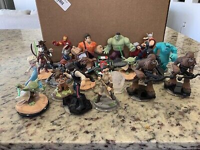 Disney Infinity 1.0, 2.0, 3.0 Lot Of 21 Figures Marvel, Stars Wars PS4, Wii Xbox