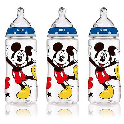 NUK Disney Orthodontic Bottles Mickey Mouse 3 Pack 10oz