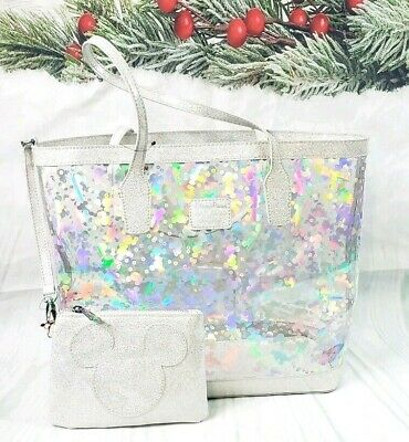 Disney Parks Magic Mirror Metallic Collection Mickey Mouse Tote by Loungefly