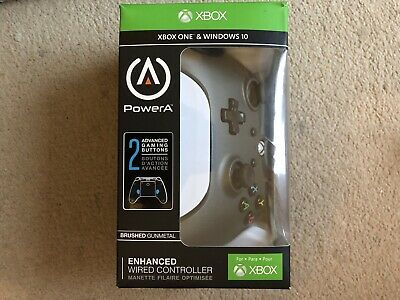 PowerA Enhanced Wired Controller for Xbox One & WINDOWS 10  Brushed Gunmetal