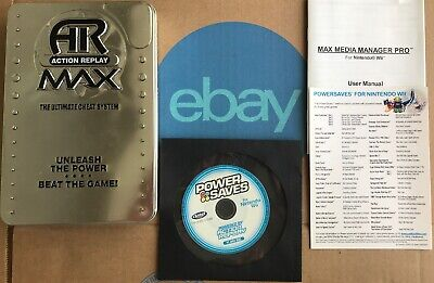 Datel NINTENDO Wii Action Replay Power Saves Game Cheat Codes Disc Set TESTED