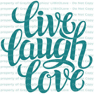 FITS YETI RTIC Hogg Live Laugh Love Vinyl Decal Sticker Inspirational Words