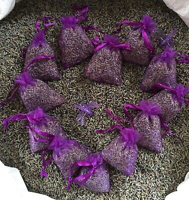 Sleep Aid 12 Dried Lavender Bags Moth Repellent Calming Favours Scent