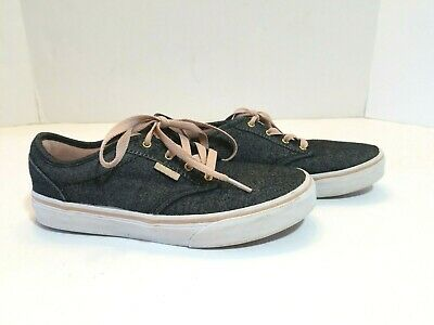 e2eb572aa385 Vans Missy Sz 4.5M Youth sneakers black/ pink low top canvas skate shoes