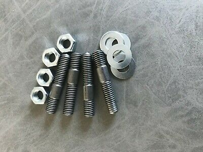 Yamaha Rd250 Rd350 Rd400 Exhaust Studs & Nuts Set 4