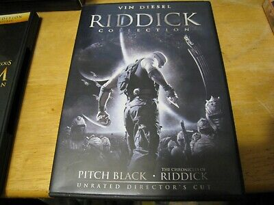 Vin Diesel RIDDICK Collection Trilogy unrated Director's Cut 2 X DVD
