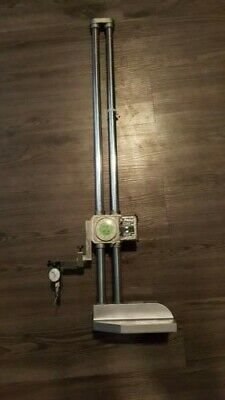 """Mitutoyo Dial Height Gage 192-114, .001-24"""", With Dial Test Indicator"""