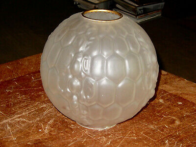 Antique Tufted Frosted 10 Inch Gwtw Lamp Shade