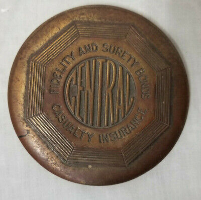Vintage Central Fidelity & Surety Bonds Casualty Insurance Paper Weight