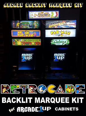 Arcade1up RETROCADE Backlit Marquee Kit for Arcade1up Cabinets