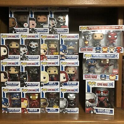 HUGE Funko POP Vinyl Marvel Avengers Civil War Lot of 18 | 7 EXCLUSIVES