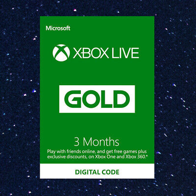 3 Month Xbox LIVE GOLD MEMBERSHIP Xbox 360 & Xbox ONE FAST DISPATCH
