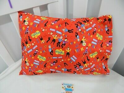 Wiggles Pillowcase Ready Steady Wiggle Red Child Toddler Size 100% Cotton