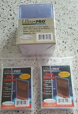 Ultra Pro  Premium  Trading Card Sleeves X 2 - 200 Total & Sealed 25 Top Loaders