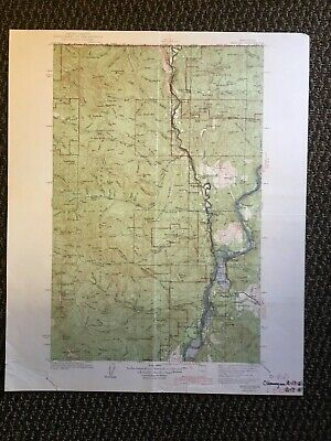 Vintage USGS Marcus Washington 1942 Topographic Map