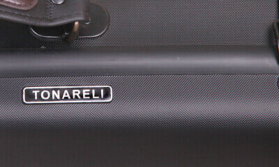New Tonareli Composite Violin Oblong Case Black with Cosmetic Imperfections