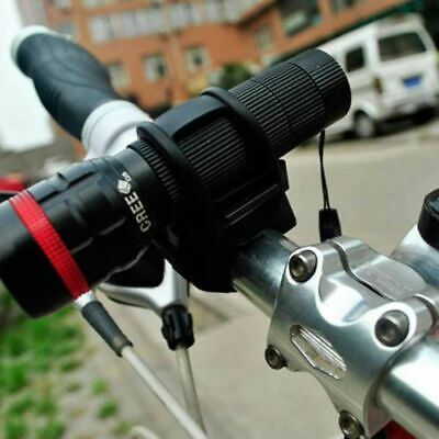 360° Mountain Bike Cycling Bicycle Mount Holder for Flashlight Torch Clip-Clamp