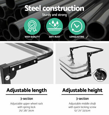 Folding Step Stair Car Truck Fully Adjustable Wheel 4x4 4WD Auto Accessory 200KG