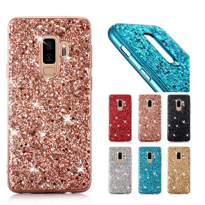 For Samsung Galaxy A20e A40 S9 S10 Plus Bling Glitter Rubber Phone Case Cover