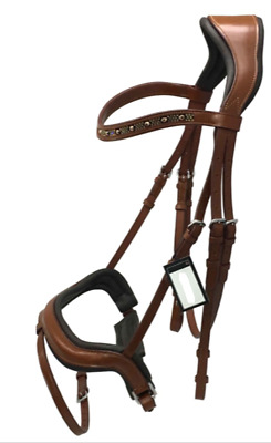 Tan Leather Bridle with Anatomical Noseband Cob Full  XFull