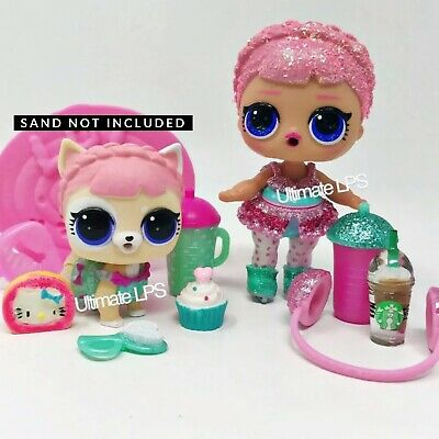 Lol Surprise Dolls Bling Ice Skater & Fuzzy Pet Ice Barker - Authentic