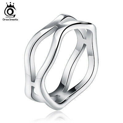 6MM Mens Womens 316L Stainless Steel Ring Wedding Band Punk Party Jewelry Gift