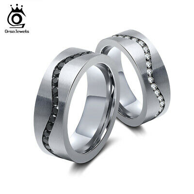 7.5 MM 316L Stainless Steel Ring Wedding Mens Womens Band Unisex  Ring Size 6-9