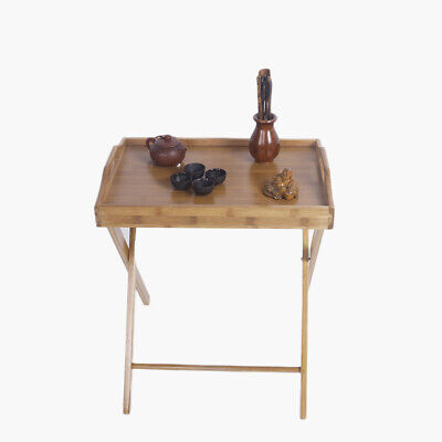 Folding Tv Tray Snack Table Coffee Dinner Serve Wood Living