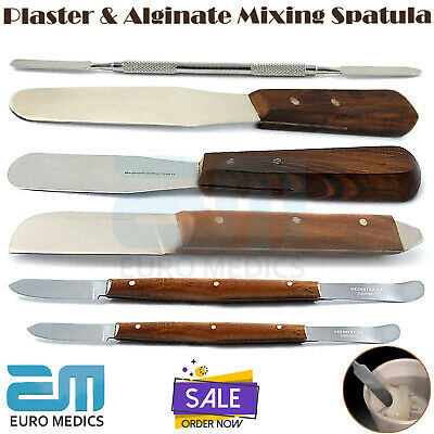 6X Plaster & Alginate Mixing Spatula Wax And Modelling Deal Dental Top Quality