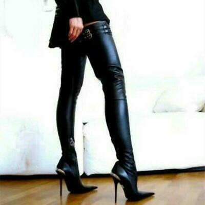 Pointy Toe Stiletto Heel Over Knee Thigh High Dress Clubwear Womens Boots Shoes