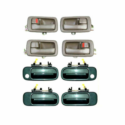92-96 For Camry door handle 2 Front Outside GREEN 6M1 /& 1 Inside Brown DS413
