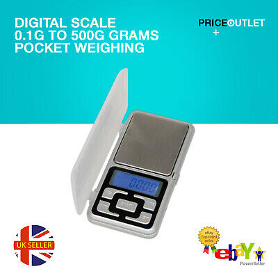 0.1g - 500g Digital Pocket Weighing Mini Scales For Jewlery Gold Kitchen K89
