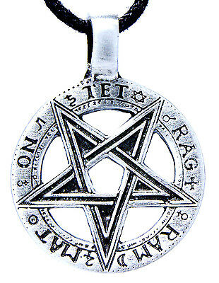 No. 33 Pentagram Guardian Magic Protective Amulet Pendants Pewter Band/Necklace
