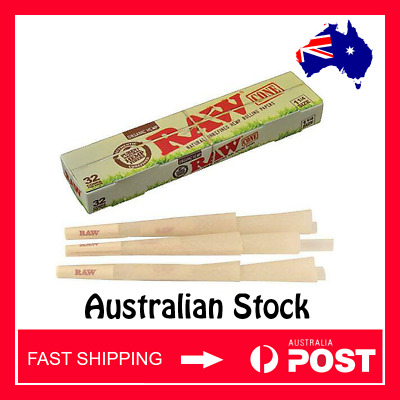 RAW Organic Pre rolled Cones 1 1/4 x 32 Pack (AUSTRALIAN STOCK - FAST SHIPPING)