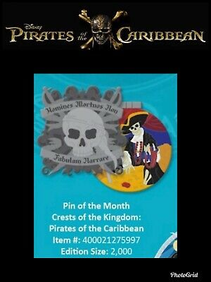 Disney Crest of the Kingdom Pirates of the Caribbean Pin