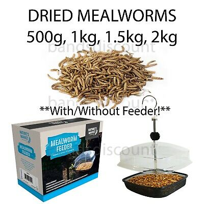 Dried Mealworms Cheap,Great Price+Quality-500g,1KG,1.5KG, 2KG can Include feeder