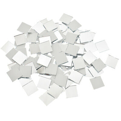 100Pcs Square Mirror Glasmosaik Fliesen Silber Spiegel DIY Wall Artwork Supplies