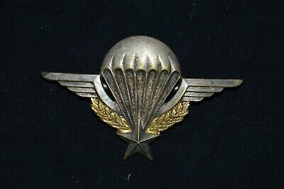 BREVET PARACHUTISTE DRAGO ROMAINVILLE n°123006-FRENCH PARATROOPER BADGE-ALGERIE